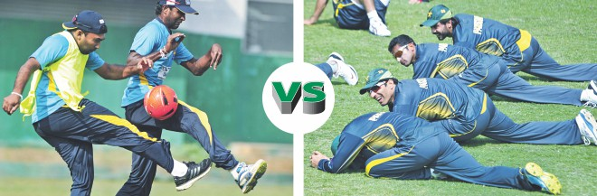 After missing Sri Lanka's T20 and ODI series against Bangladesh due to injury, Mahela Jayawardene (L) will be back in action in the opening Asia Cup match against holders Pakistan at Fatullah today. Photos: Firoz Ahmed