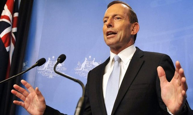 Australia's Prime Minister Tony Abbott. Photo: BBC