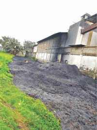 Rampant land grabbing by individuals and factories in the area has pushed the river to its demise.  Photo: Star