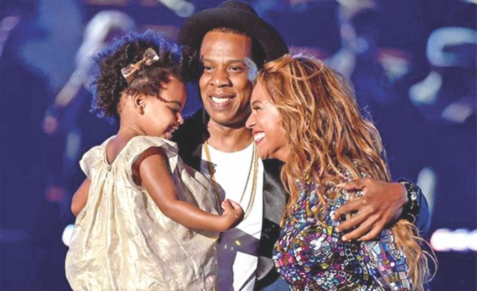 Jay-Z, Beyonce and the adorable Blue Ivy on stage together produced one of the most memorable moments of VMA.
