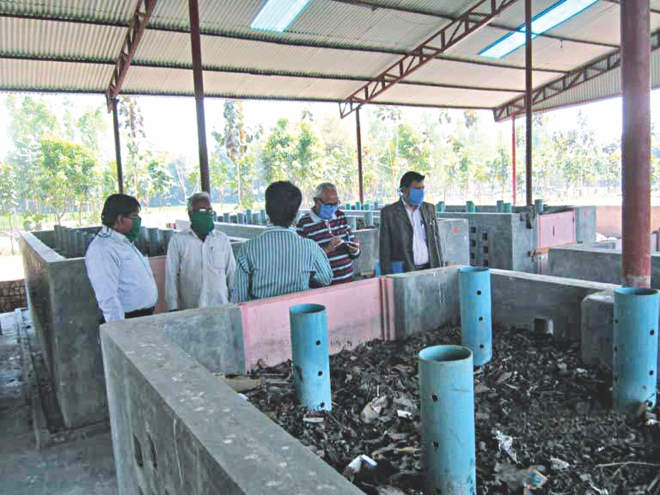 The biogas plant in Gaibandha municipality.  PHOTO: STAR