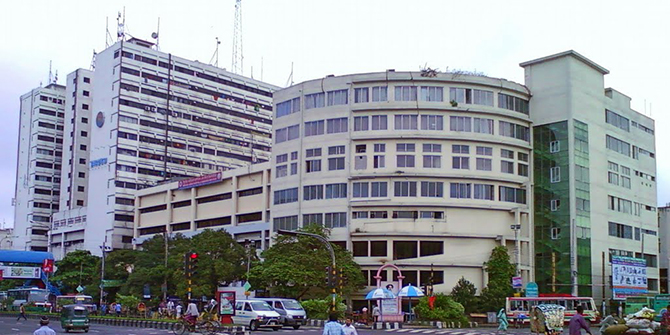 An outside view of the Birdem General Hospital at Shahbagh in the capital.