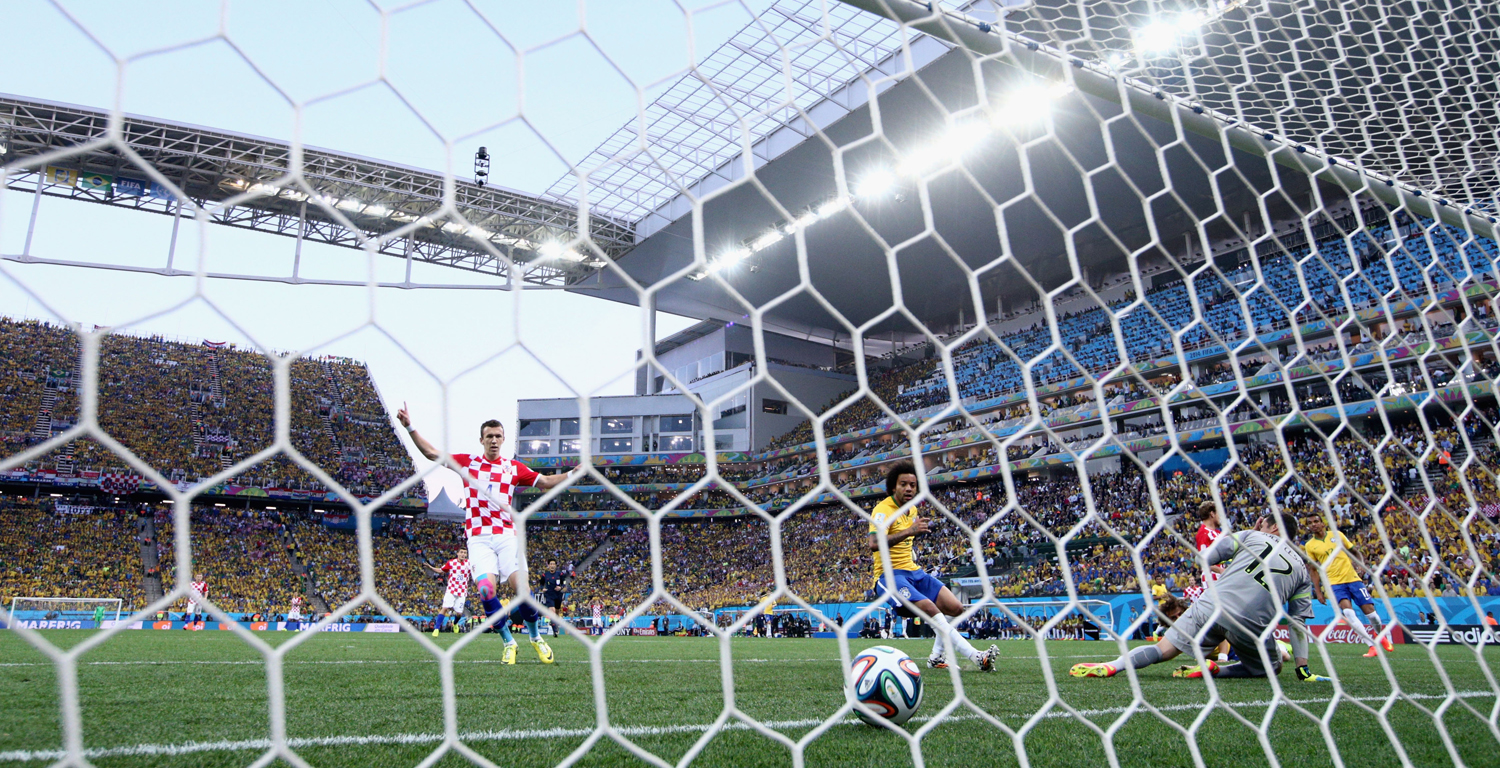 Ivan Perisic of Croatia celebrates a first half goal during the 2014 FIFA World Cup Brazil Group A match between Brazil and Croatia at Arena de Sao Paulo on June 12, 2014 in Sao Paulo, Brazil. Photo: Getty Images