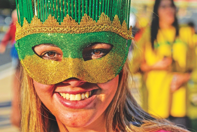 Brazil is welcoming the world with a smile. PHOTO: GETTY IMAGES