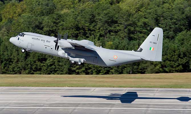 A file photo of Super Hercules cargo plane
