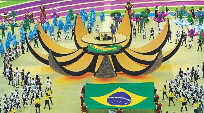 The FIFA World Cup 2014 got off through a colourful opening ceremony at the Arena Corinthians in Sao Paulo on Thursday.  PHOTO: AFP