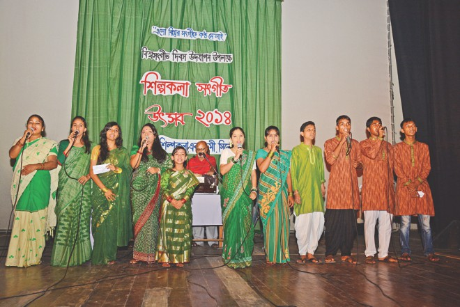 A chorus performance at the event. Photo: Star