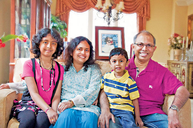 Chowdhury is also a caring father of two children. His wife Malini is a great inspiration for all his work. Photo Courtesy: Subir Chowdhury