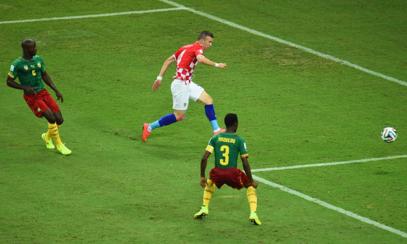 Ivan Perisic of Croatia shoots and scores his team's second goal during the 2014 FIFA World Cup Brazil Group A match between Cameroon and Croatia at Arena Amazonia on June 19, 2014 in Manaus, Brazil. Photo: Getty Images