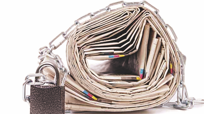 Curbing freedom of expression