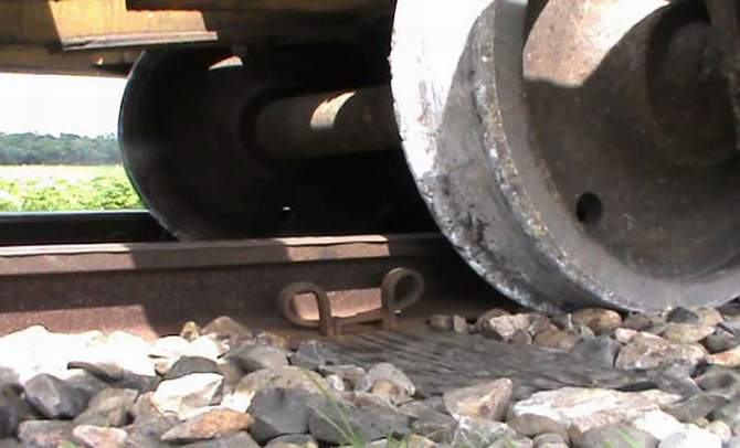 In this Star file photo shows the wheels of a compartment of a Chittagong-bound train from Sylhet derailed in Comilla halting train service on Dhaka-Chittagong and Dhaka-Sylhet routes.