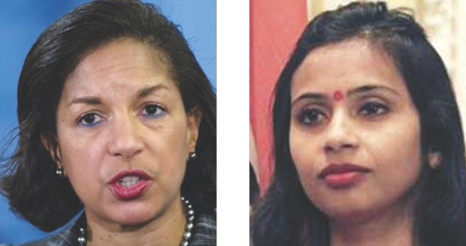 Susan Rice (L) and Devyani (R)