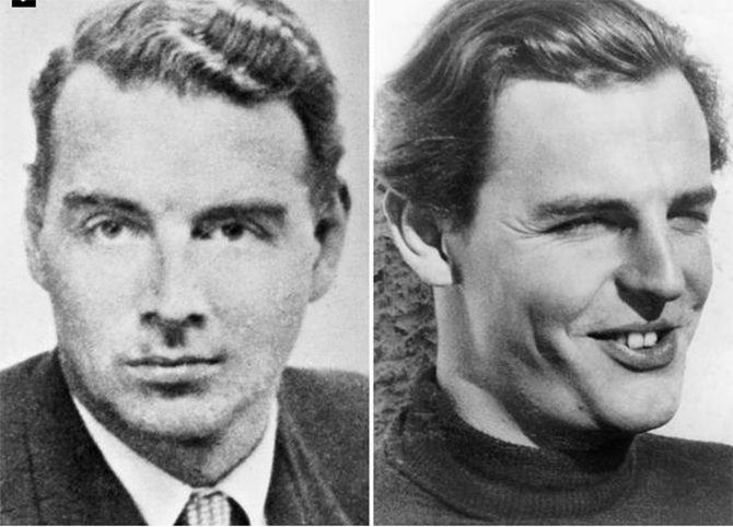 British double agents: Guy Burgess and Donald Maclean