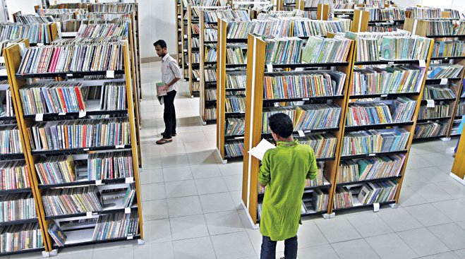Bishwo Shahitto Kendro's library offers 200,000 books for the readers with a perfect  environment for reading.