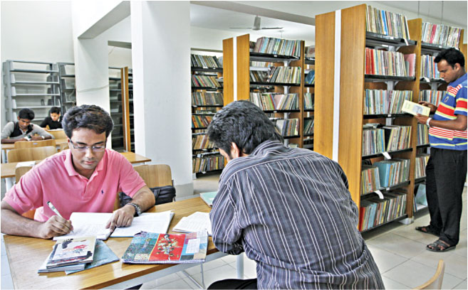 Members or non members, anybody can read the library books. Photos: Prabir Das