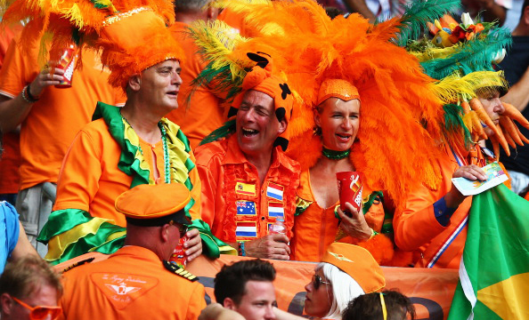 Netherlands fans look on before the 2014 FIFA World Cup Brazil Group B match between Spain and Netherlands at Arena Fonte Nova on June 13, 2014 in Salvador, Brazil. Photo: Getty Images