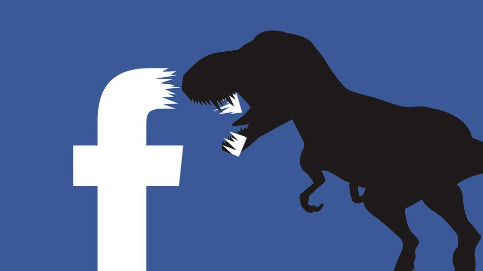 Facebook's privacy dinosaur (below) is slightly less terrifying than this one, and first appeared to users a few weeks ago, along with a privacy pop-up from the company. Photo: Facebook