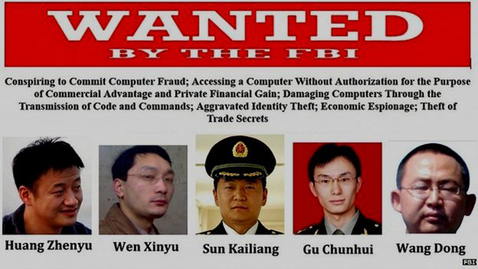 "FBI wanted poster. 19 May 2014 The FBI issued a ""Wanted"" poster for the five army officers. This photo is taken from BBC."