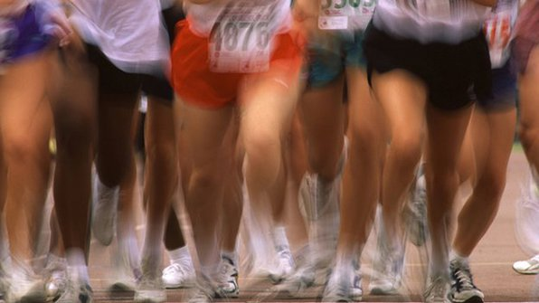 "Running is one form of potentially ""flu-beating"" exercise. This photo is taken from BBC."
