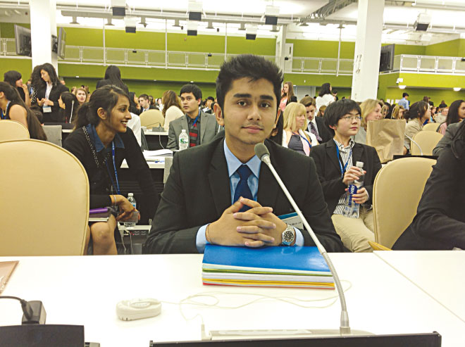 The writer at Global Classrooms International Model UN.