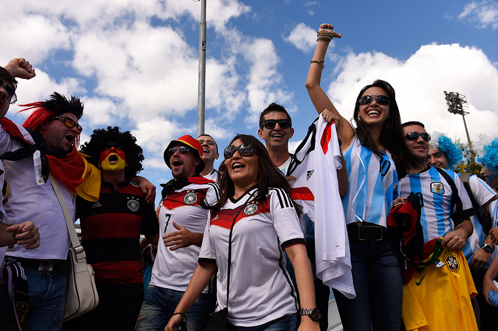Fans in Germany v Argentina World Cup Finals