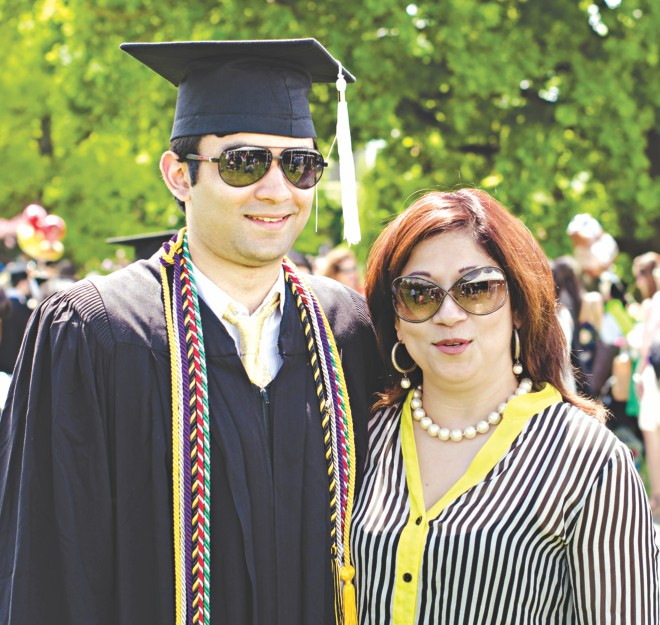 The graduate with proud mother. Photo: Alisha Kabir