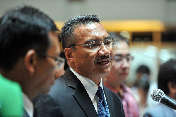 Malaysian Defence Minister Hishammuddin Hussein
