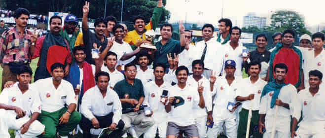 The winning team of ICC Champions Trophy. Photo: Courtesy