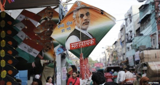 India is marking its first Independence Day with Narendra Modi as its leader. Photo: BBC
