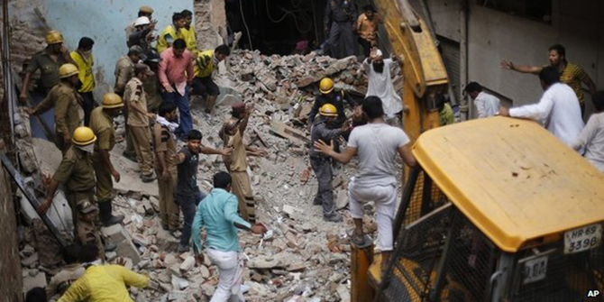 India building collapses kill 20