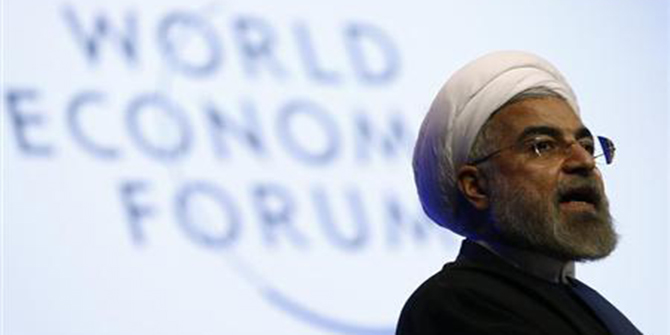 Iran's President Hassan Rouhani speaks during a session at the annual meeting of the World Economic Forum (WEF) in Davos January 23. Photo: Reuters