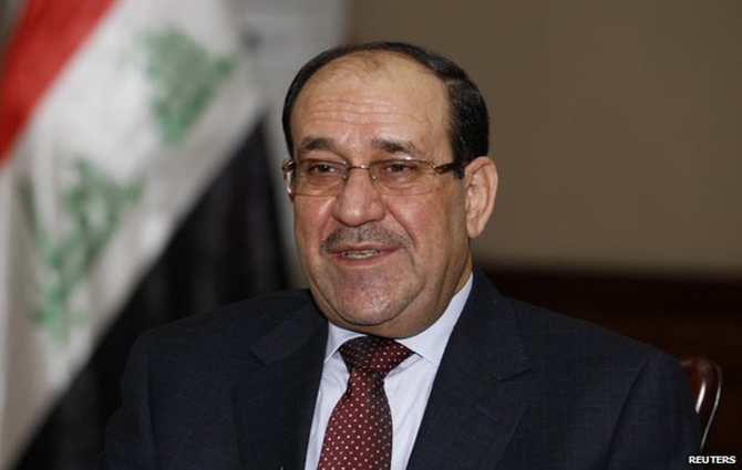 Nouri Maliki had been under intense pressure to make way for Haider al-Abadi. Photo: BBC/Reuters