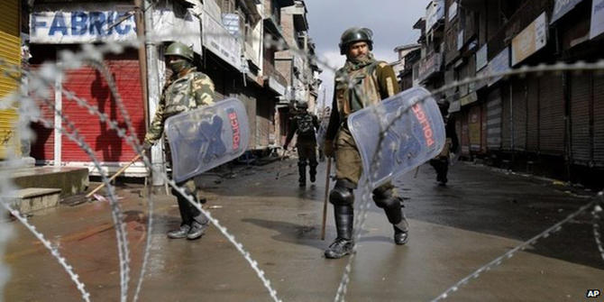 India has tens of thousands of police and paramilitary forces deployed in the Kashmir region