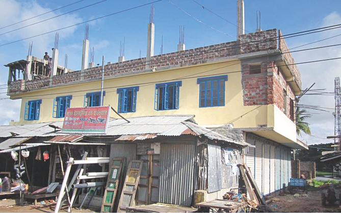 Even built a two-storey building on graves. Photo: Star