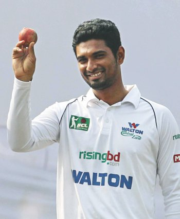 Mahmudullah finished with career-best figures in an innings of 7 for 94 in yesterday's BCL game at the BKSP. Photo: Star