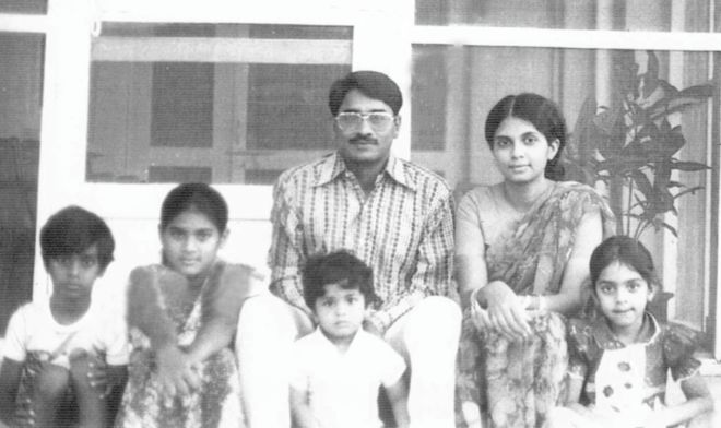 Maj. Gen. Manzur with his family.