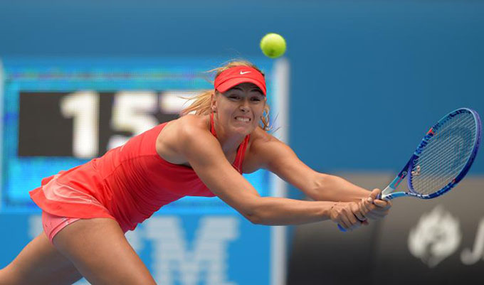 Sharapova sets up Russian semi at Australian Open
