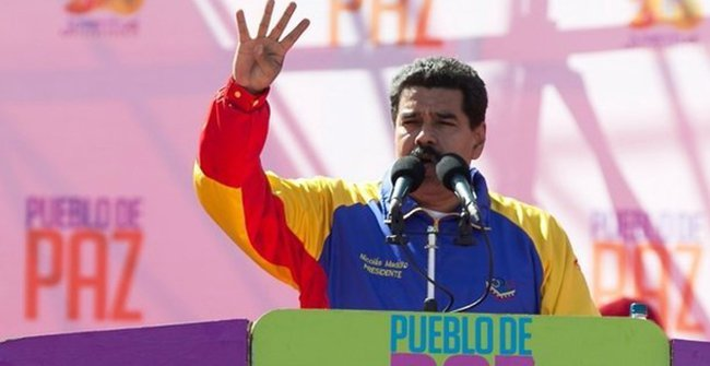 "President Maduro: ""It's a group of US functionaries who work in universities"". Photo: AP"