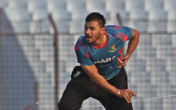 A TIGER AT HEART: Mashrafe Bin Mortaza is up against the twin challenge of leading the ODI team and staying fit throughout the series against Zimbabwe starting today, as the paceman begins his second stint as captain. PHOTO: ANURUP KANTI DAS