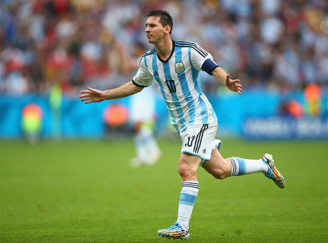 Announcing arrival ... Argentina's Lionel Messi, with four goals in three games, is already the joint top-scorer along with Brazil's Neymar. PHOTO: GETTY