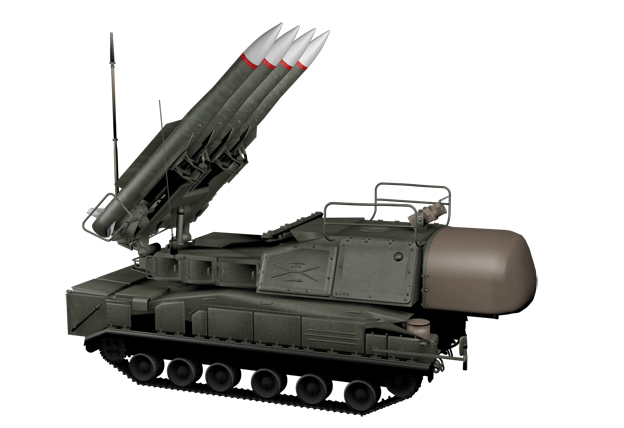 Buk surface-to-air missile system. Also known as SA-11 Gadfly (or newer SA-17 Grizzly). Photo: BBC