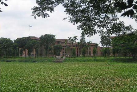 A view of Maulana Bhashani Hall of Jahangirnagar University.
