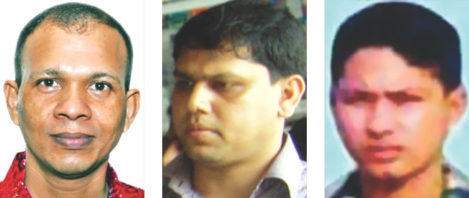 Cops yet to arrest, from left, Lt Col Tareque, Lt Commander Rana and Maj Arif despite HC order.