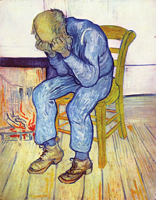 Vincent van Gogh, Sorrowing Old Man (At Eternity's Gate), oil on canvas.