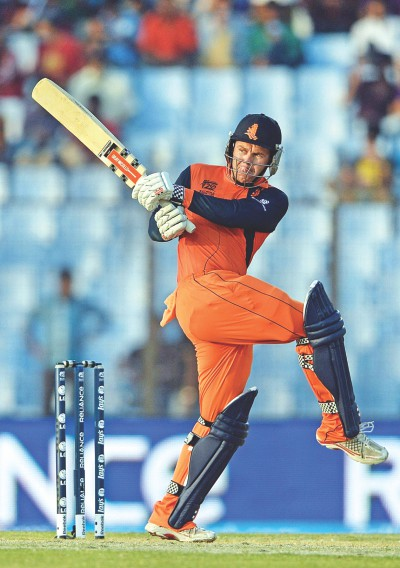 Stephan Myburgh was the Flying Dutchman of the tournament with an aggregate of 224 runs. He also hit the most number of sixes as well as fours and was responsible for his side's stunning win against England in Chittagong. Photos: Star File