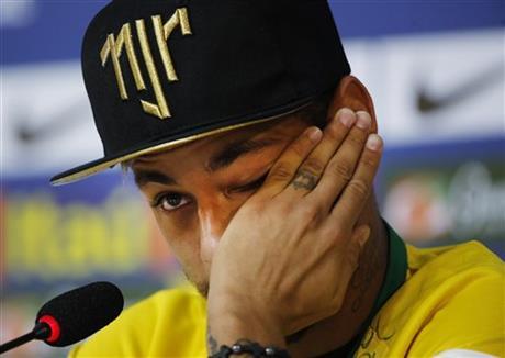Neymar thankful he's not in wheelchair