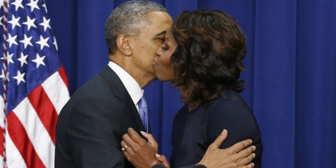 The White House rebuffs claims of tensions within the Obama marriage, claiming they are still role models.
