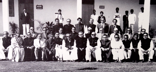 Bangabandhu and his cabinet after the Liberation War. Photo Courtesy: Simin Hossain Rimi