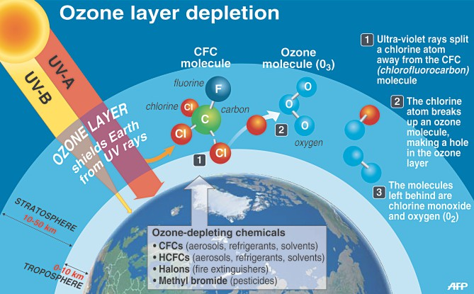 Ozone layer impact of chemistry on society for O zone architecture