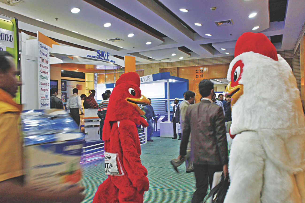 A partial view of the ninth International Poultry Show and Seminar 2015 that began at Bangabandhu International Conference Centre in Dhaka yesterday. Photo: STAR